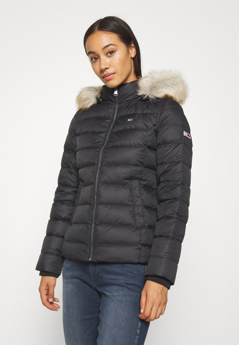 Tommy Jeans - BASIC HOODED JACKET - Down jacket - black