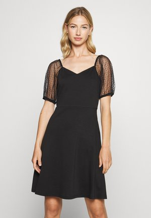 VITINNY OPEN NECK DRESS - Jersey dress - black