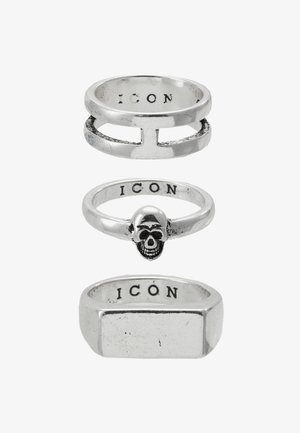 LINEAR RING 3 PACK - Anello - rhodium