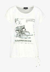 Monari - Print T-shirt - beige - 1