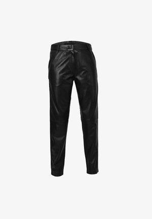 BAILEY - Pantalón de cuero - black