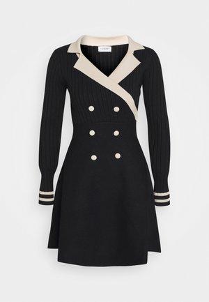 YOUNG LADIES DRESS - Strikket kjole - black