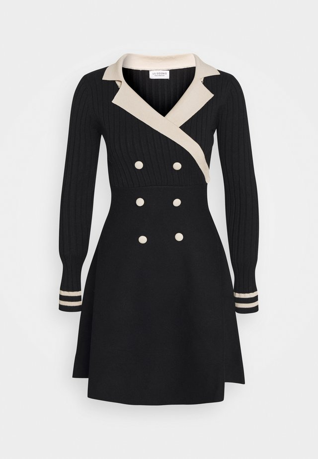 YOUNG LADIES DRESS - Abito in maglia - black