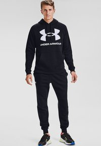 Under Armour - RIVAL  - Bluza z kapturem - black - 1