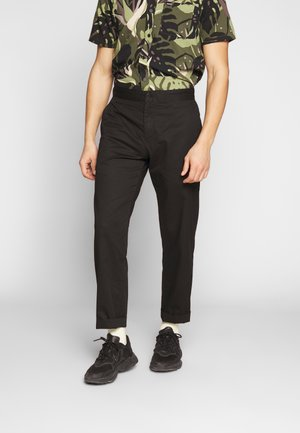 YAKIV TROUSERS - Tygbyxor - black