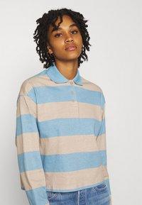 Monki - Long sleeved top - blue light/beige light - 3