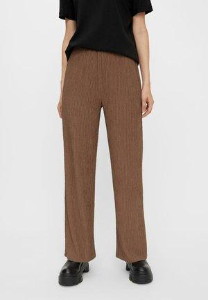 Spodnie materiałowe - dark brown