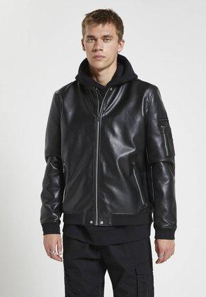 Imitatieleren jas - mottled black