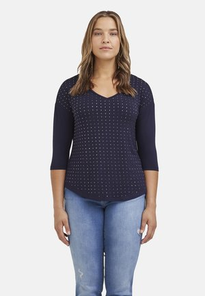 CON APPLICAZIONI - Long sleeved top - blu