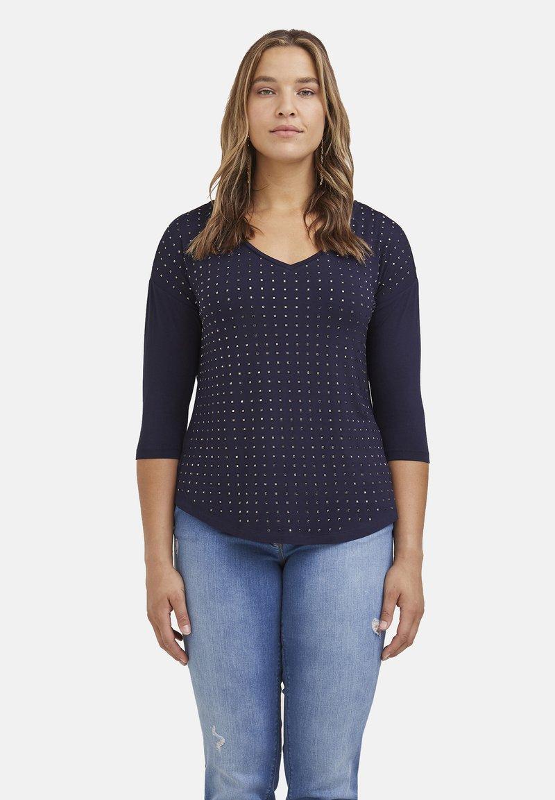 Fiorella Rubino - CON APPLICAZIONI - Long sleeved top - blu