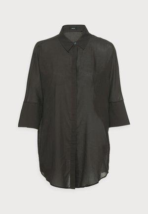 FRITZI - Button-down blouse - black oliv