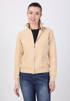 Zip-up sweatshirt - Camel/