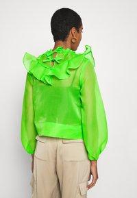 Who What Wear - RUFFLE YOKE - Blouse - jasmine green - 2