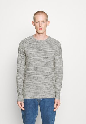 INJECTED CREW NECK  - Jumper - offwhite/grey heather