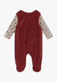 Jacky Baby - IN MY BACKYARD CHRISTMAS SET - Sleep suit - dunkelrot - 1