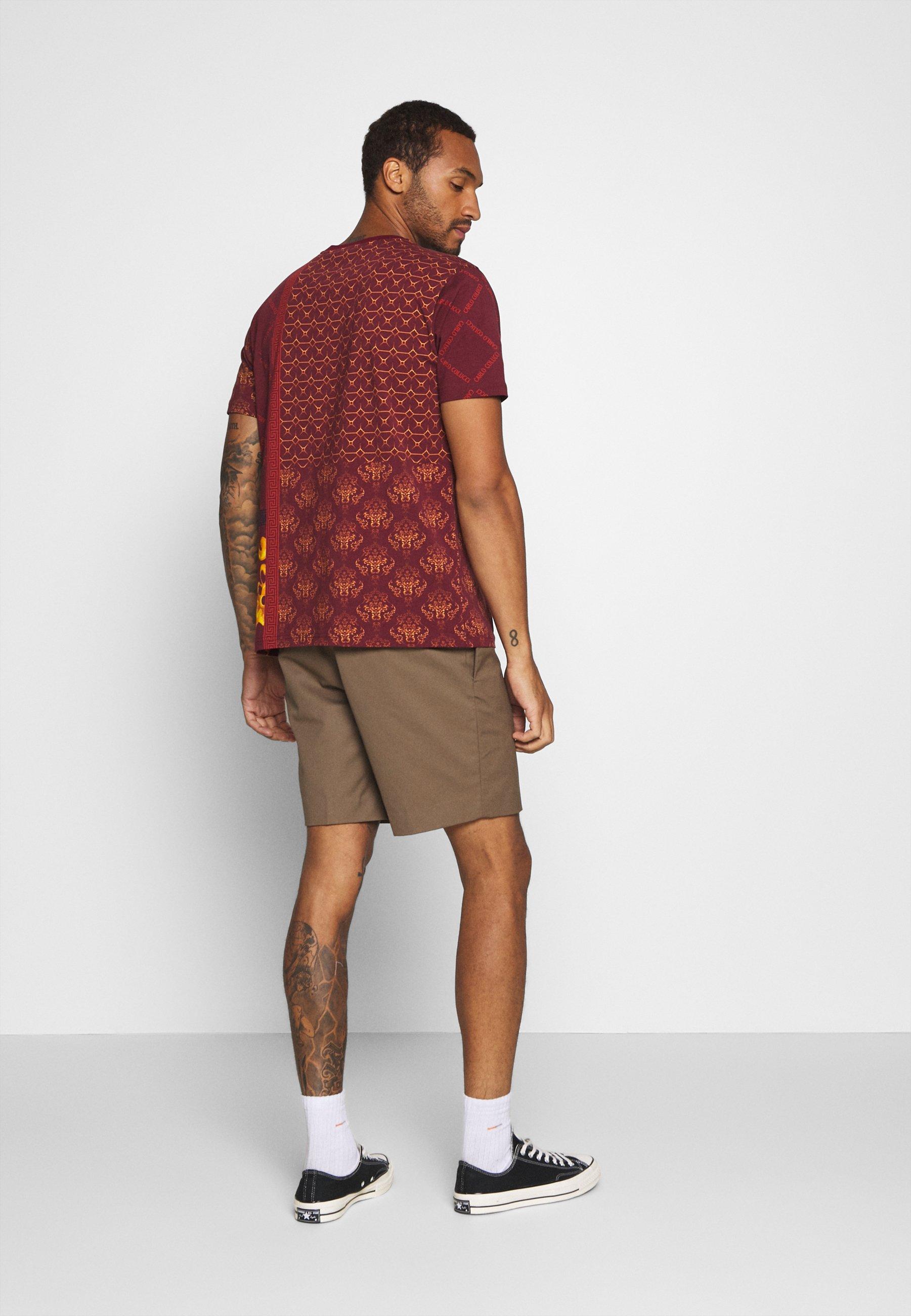 Carlo Colucci Print T-shirt - bordeaux gM7Pn