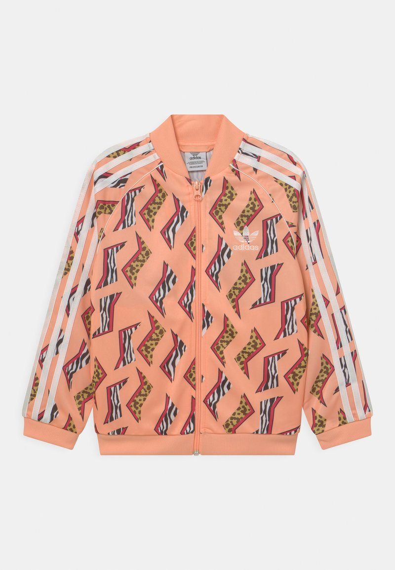 adidas Originals - ANIMAL PRINT SUPERSTAR - Training jacket - glow pink/multicolor/white