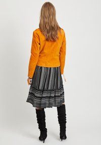 Vila - VICRIS - Leather jacket - golden oak - 2
