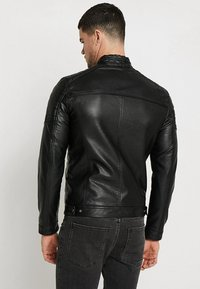 Jack & Jones - JJEROCKY JACKET - Faux leather jacket - black - 3