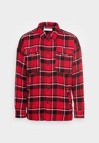 JONTE PATCH - Summer jacket - urban red/black