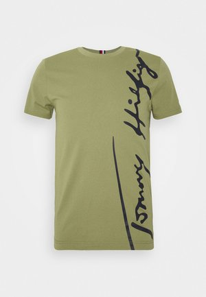 COOL SIGNATURE TEE - T-shirt con stampa - green