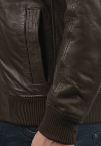 Solid - CAMASH - Leather jacket - brown - 3