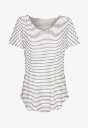 VMHANNELUA BOX  - Basic T-shirt - snow white/night sky