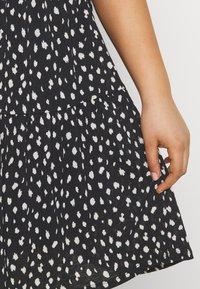 ONLY Carmakoma - CARPELLY PEPLUM DRESS PLUS - Day dress - black - 5