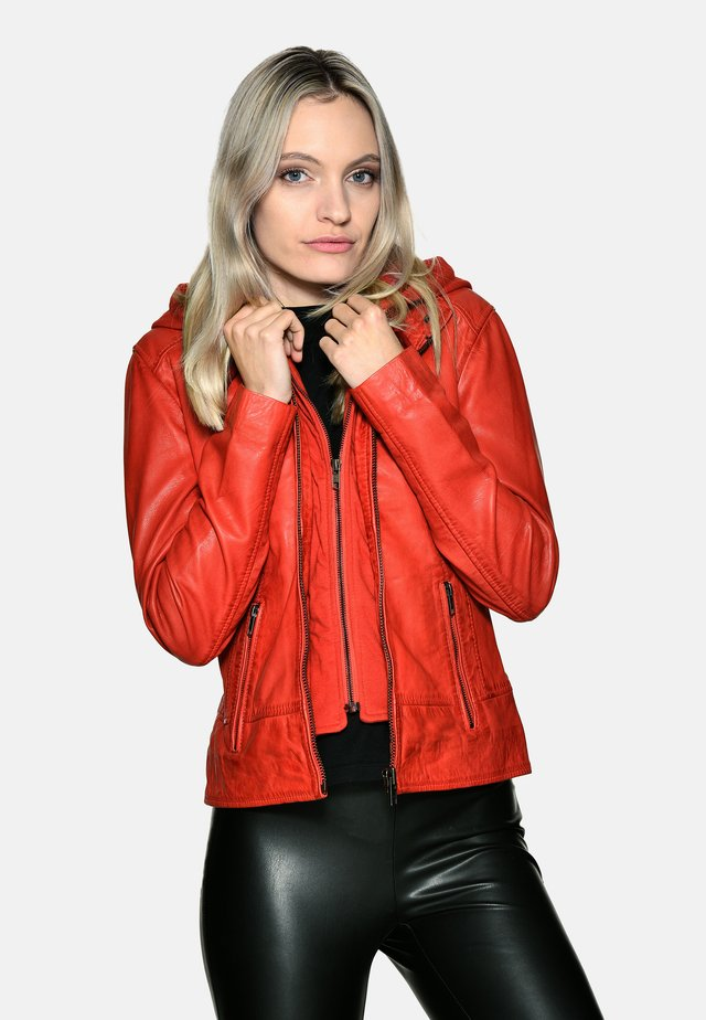 Leather jacket - red