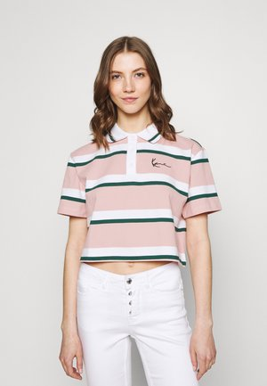 SMALL SIGNATURE STRIPE SHORT TEE - Polo shirt - rose