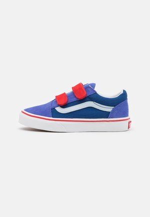 OLD SKOOL UNISEX - Matalavartiset tennarit - baja blue/high risk red