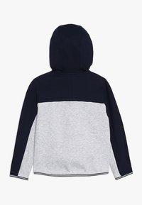Lacoste - veste en sweat zippée - navy blue/silver chine - 1
