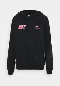 Long sleeved top - black/hyper pink