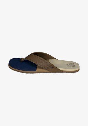 T-bar sandals - navy/tan