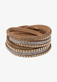 sweet deluxe - WANDA - Armbånd - brown/crystal/topaz/gold - 1