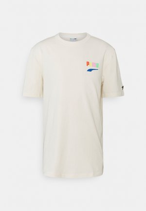 DOWNTOWN GRAPHIC TEE - T-shirts med print - eggnog