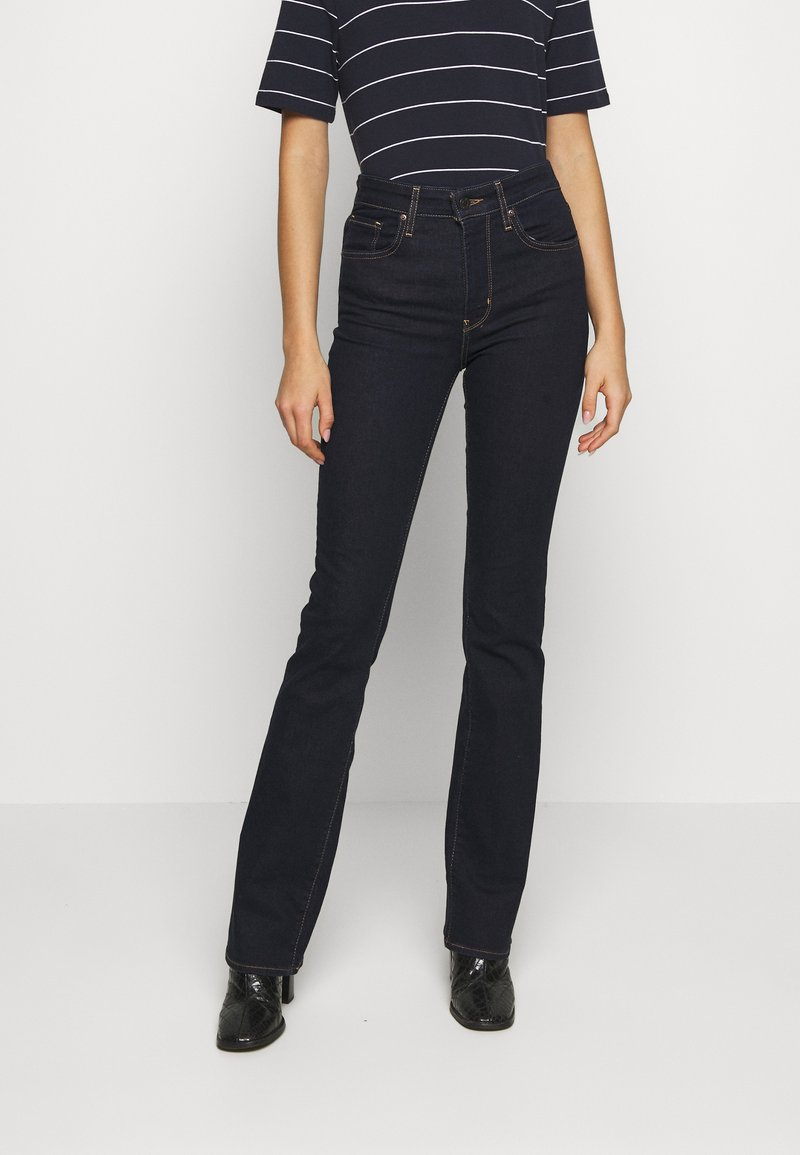 Levi's® - 725 HIGH RISE BOOTCUT - Jean bootcut - dark-blue denim