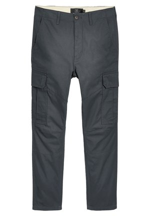 BLACK STRAIGHT FIT PURE COTTON CARGO - Cargo trousers - grey