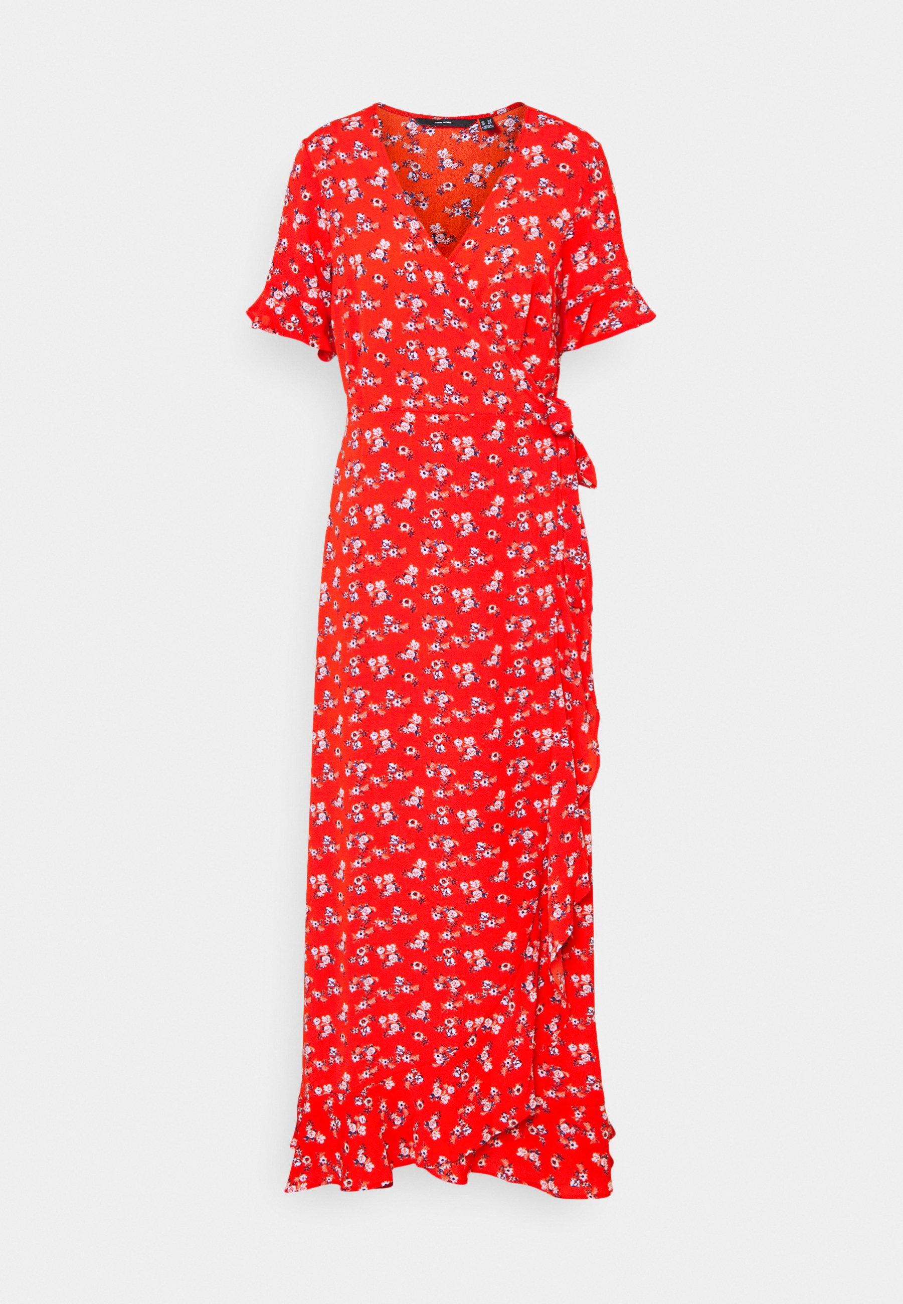 Women VMSAGA WRAP FRILL ANKLE DRESS  - Maxi dress