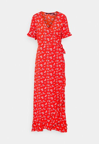 VMSAGA WRAP FRILL ANKLE DRESS  - Maxi šaty - goji berry