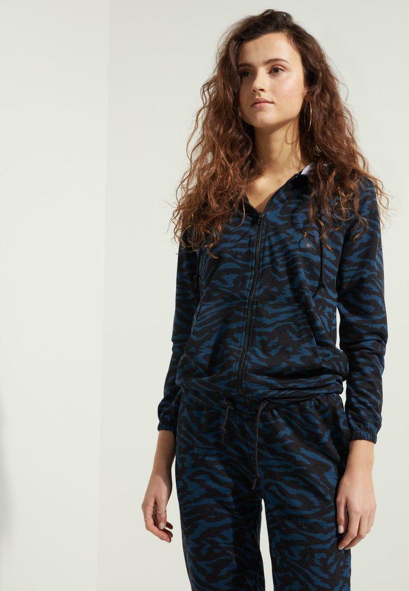 Tezenis - MIT REISSVERSCHLUSS UND TUNNELZUG - Zip-up hoodie -  blu grafite st.zebra