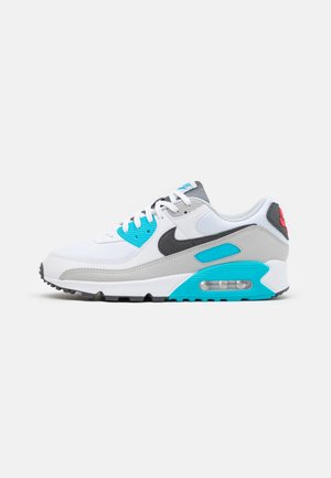 AIR MAX 90 - Trainers - white/iron grey/chlorine blue