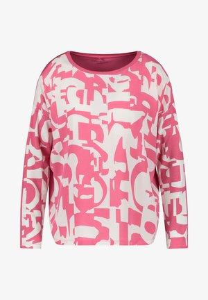 Long sleeved top - pink/beige/white