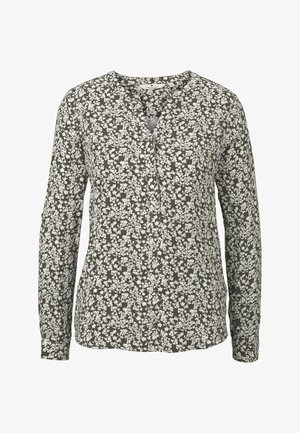 BLOUSE LONGSLEEVE PRINTED - Blouse - khaki offwhite floral design