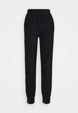 HIGH WAIST TOWELLING - Pantalon de survêtement - black