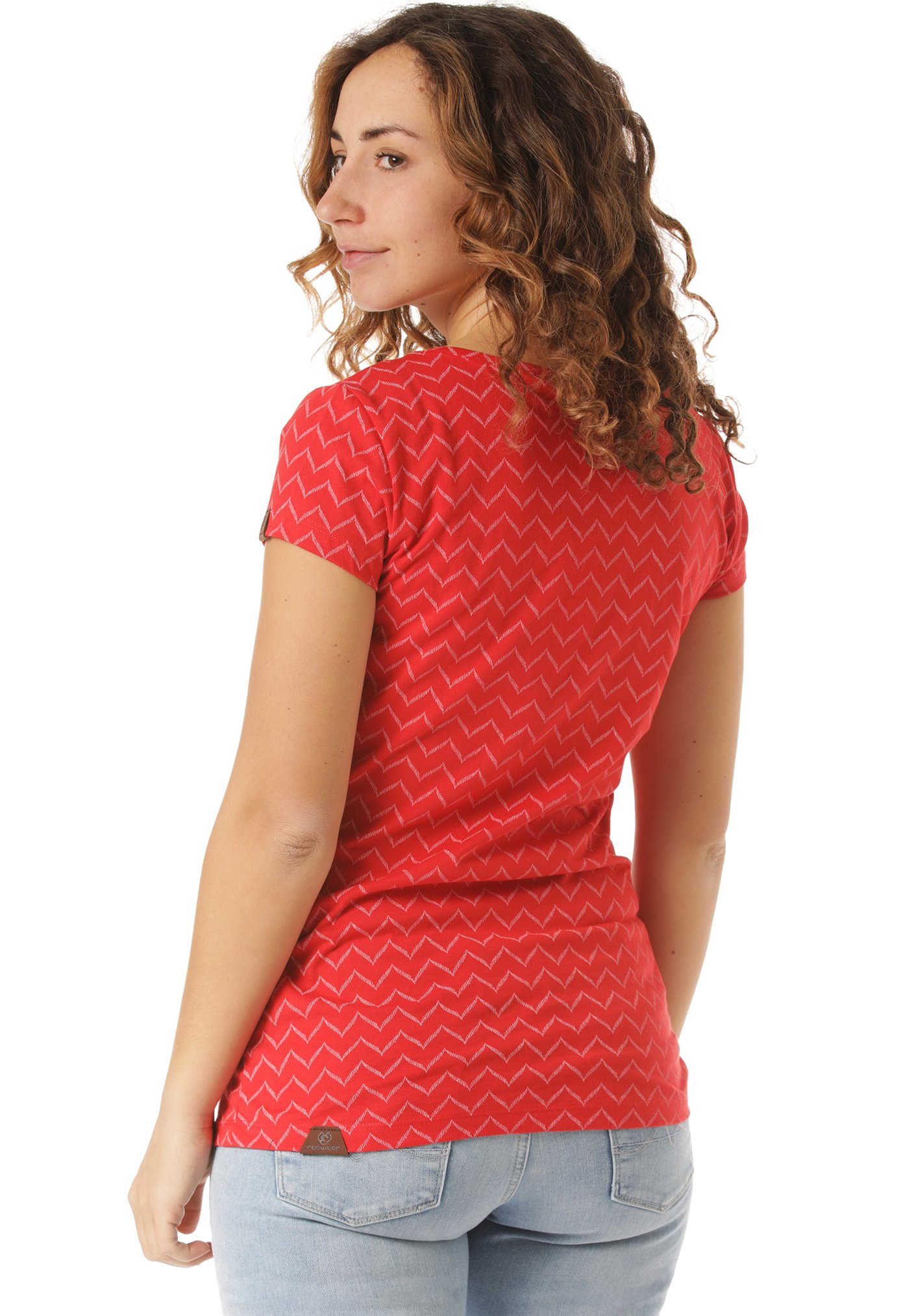 Ragwear Zig Zag - T-shirts Med Print Red/rød