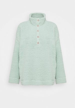 QUARTER BUTTON - Fleece jumper - dusty sage