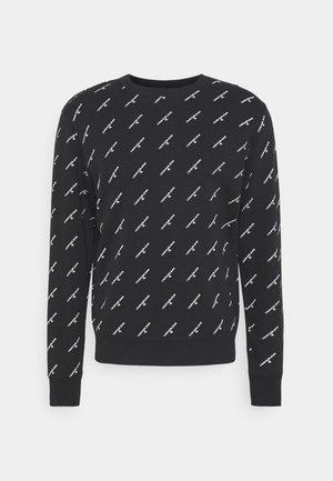 MONOGRAM CREW NECK - Sweatshirt - black