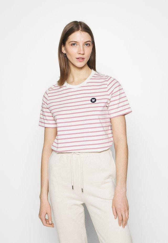 MIA  - T-Shirt print - white/rose