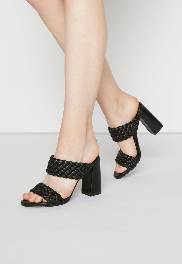 TANGLE - Mules à talons - black